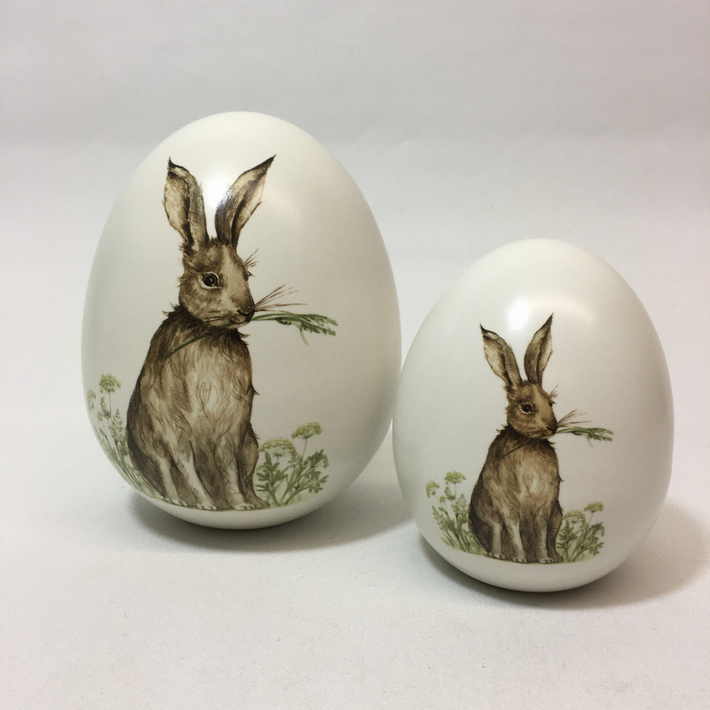 Your Choice, Ceramic Egg with Rabbit Image
