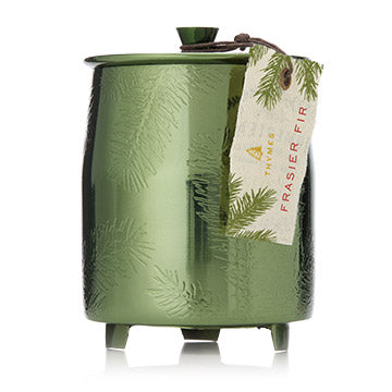 Frasier Fir Green Metal Tin Candle