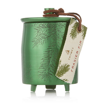 Frasier Fir Heritage Small Green Metal Tin Candle