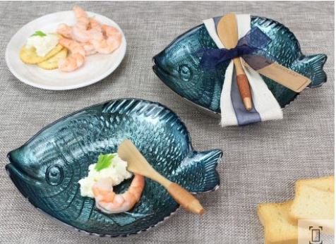 Pampa Bay Glass Fish Dish Set – 2Pc.