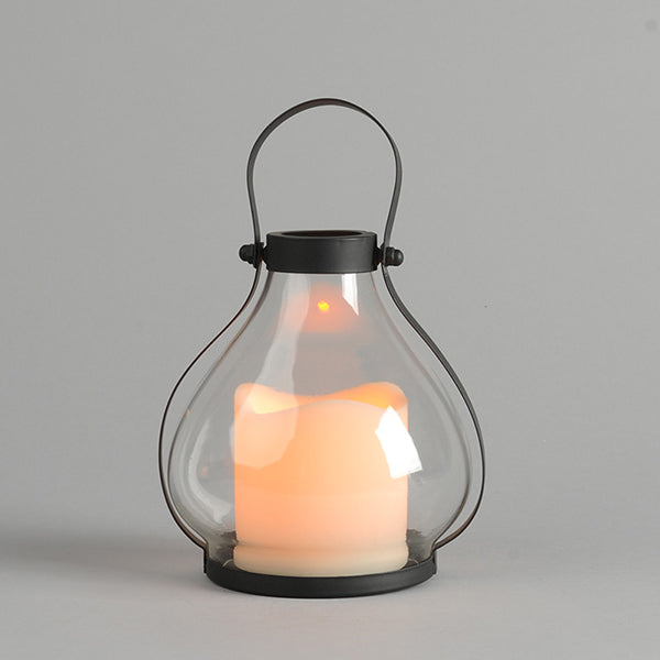 "5.9""H School House Lantern with 5-Hour Timer for Indoor and Outdoor Use"