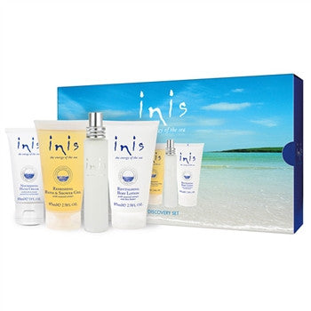 Inis, Energy of the Sea Discovery Gift Set, Four Travel-Friendly Products, Beautifully Gift Boxed