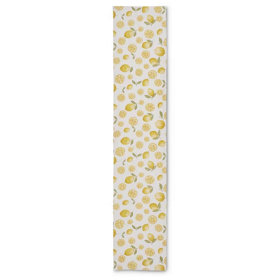 "70"" L x 14""W Cotton Lemon Table Runner"