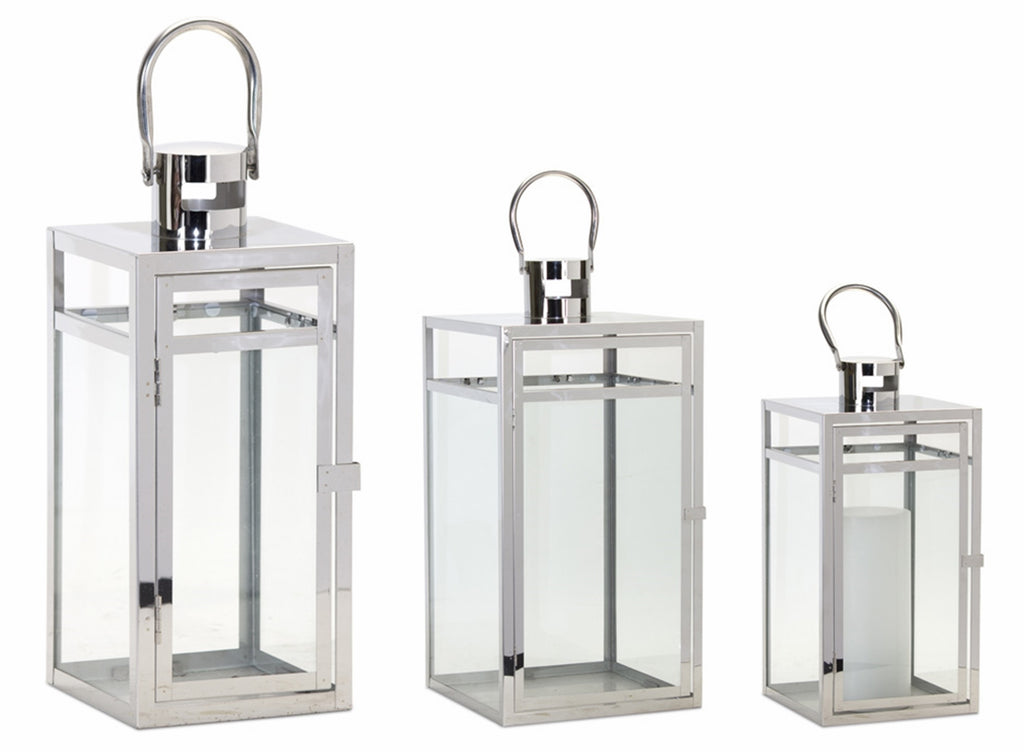 Your Choice, Stainless Steel Lanterns with Glass Panels