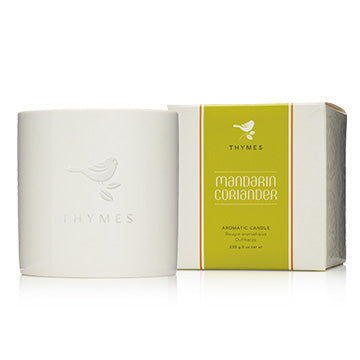 Mandarin Coriander  Ceramic Poured Candle - Thymes Brand