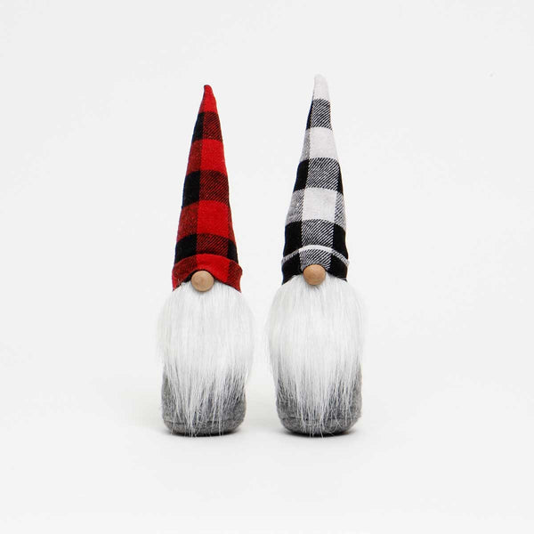 "Buffalo Plaid Gnome - Your Choice Red and Black or Black and White  2.5"" x 11"""