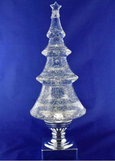 "Sparkle Tree, 14"" High, Acrylic, LED, Glitter Filled Tabletop Accent"