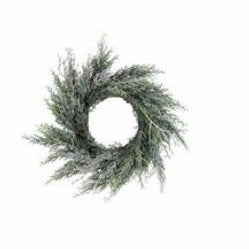 "Your Choice, 18""D or 24""D Juniper Wreath with Lightly Snowed Accents"