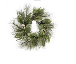"30"" Mixed Pine, Twig and Pine Cone Wreath Base"