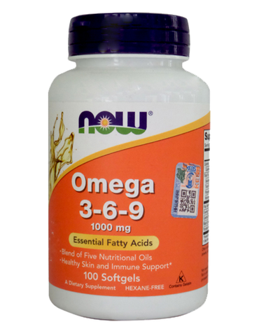 NOW FOODS Omega 3 6 9 100 SOFTGELS