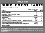Nutrex Lipo 6 Black Training Pre-Work 204G