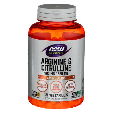 NOW Foods Arginine & Citrulline - 120 caps