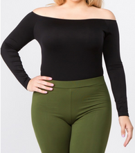 Load image into Gallery viewer, Long Sleeve Off the Shoulder Bodysuit