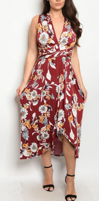 Rose to the Occasion Floral Dress