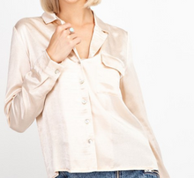 Load image into Gallery viewer, Champagne Satin Blouse