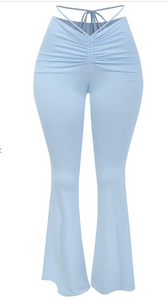 Flirty Flair Leggings (Baby Blue)