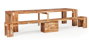 The Dining Set + Natural Acacia