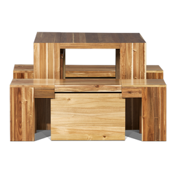 Transformer Expandable Dining Table in Hardwood 3.0