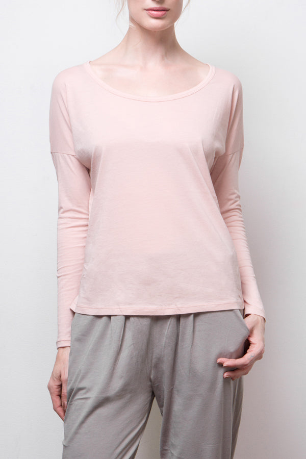 long sleeve top - pink
