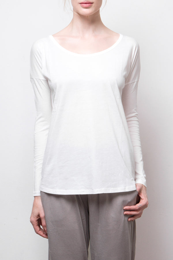 long sleeve top - white