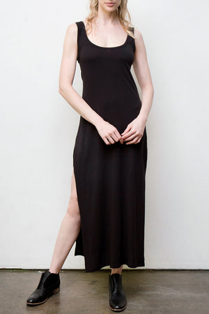 long tank dress - black