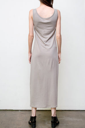 long tank dress - grey