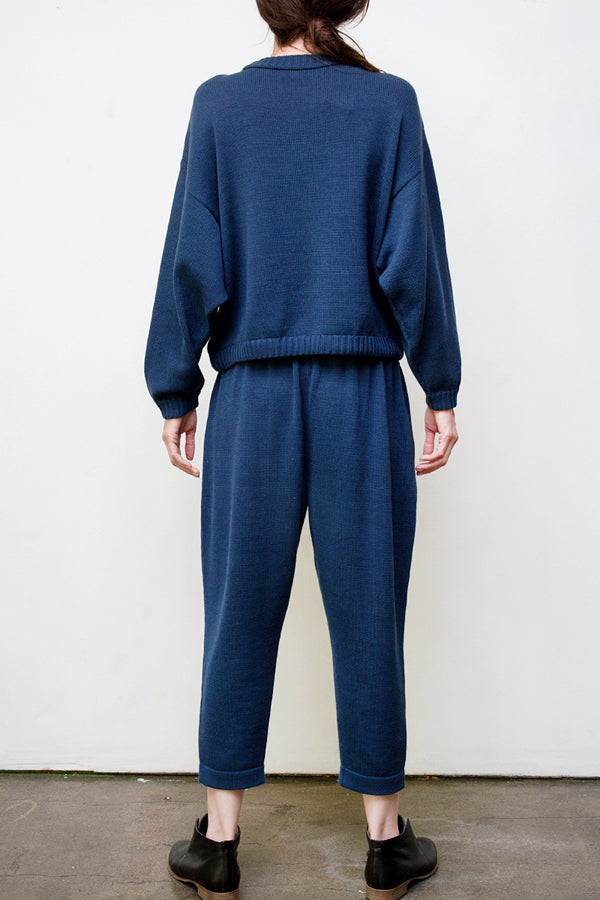 mimi hand knit suit - blue