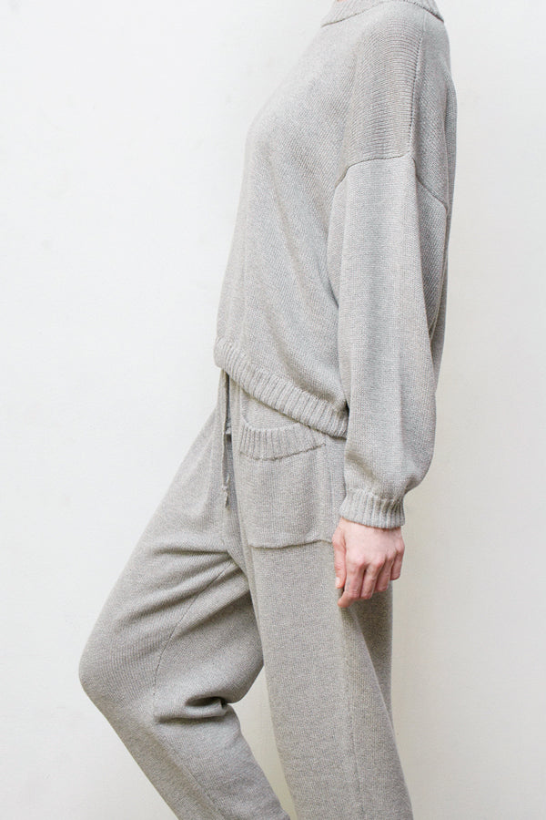 mimi hand knit suit - grey
