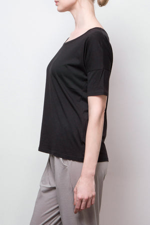 short sleeve top - black