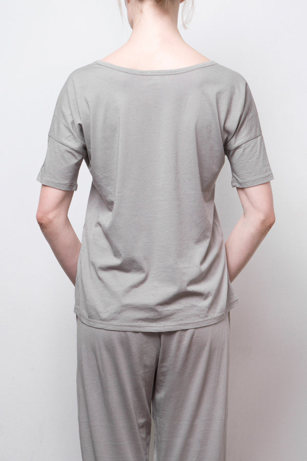 short sleeve top - grey