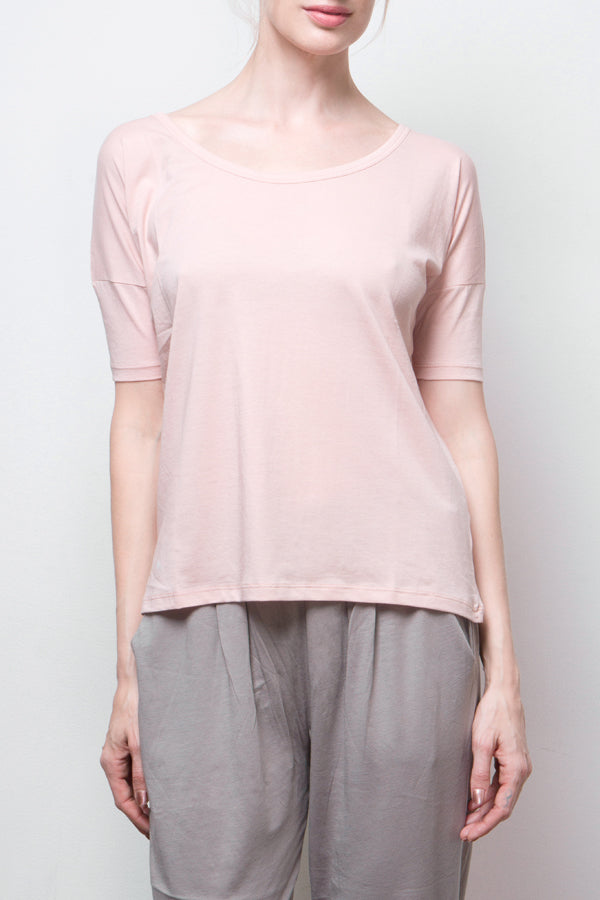 short sleeve top - pink