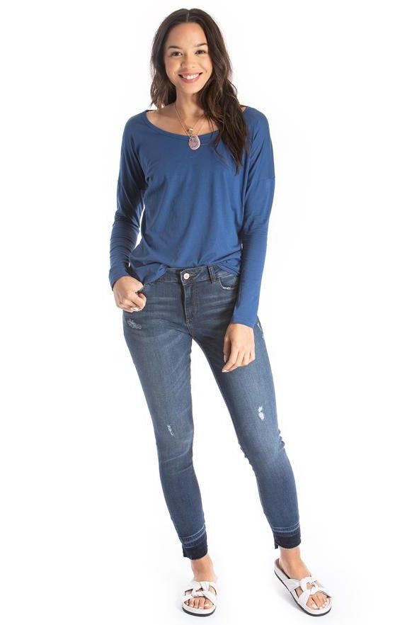 long sleeve top - blue