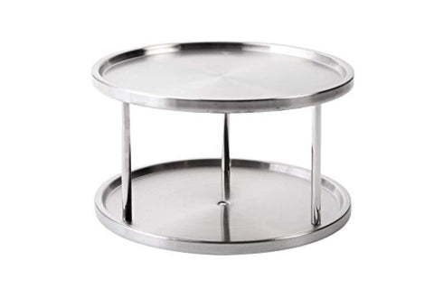 "Juvale Lazy Susan Turntable Kitchen Organizer Spices Tableware Food Service - 10.5"" Stainless Steel"