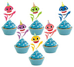 12PC New Pink Fong Baby Shark Song Theme Cupcake Cup Cake Topper Toppers Party Supplies Decorations Centerpiece  by JEWELESPARTY
