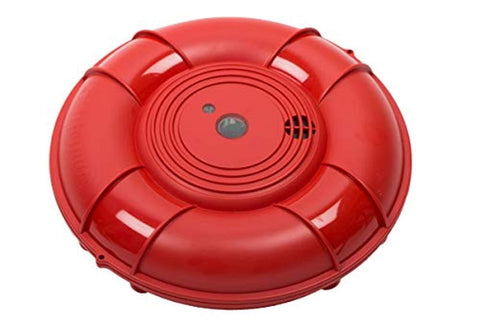 Lifebuoy Pool Alarm System - Pool Motion Sensor - Smart Pool Alarm That is Application Controlled. Powerful Sirens Blare at Poolside and Indoors