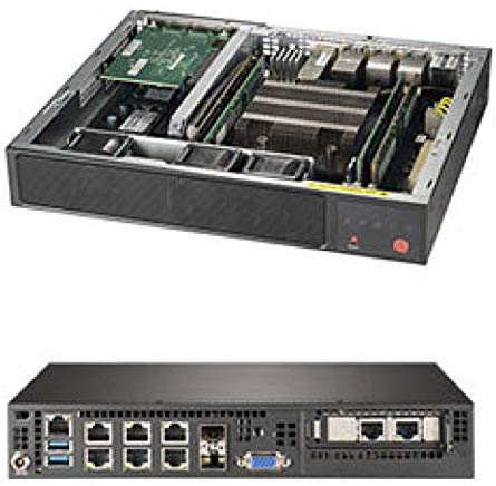 SUPERMICRO SuperServer SYS-E300-9D-4CN8TP Intel Xeon D-2123IT Networking PC w/ 2X SFP+, 2X 10GbE LAN, 4X GbE LAN, IPMI