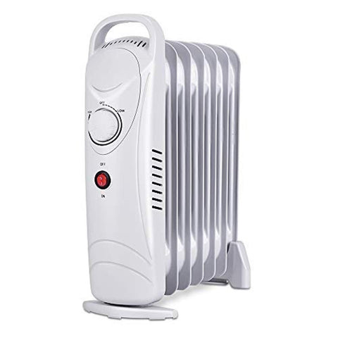 Air Choice OH12 Oil Filled Radiator Heater, 700W Space-Heater, Adjustable Temperature Compact and Slim, for Home and Office