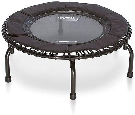 JumpSport  250 | Fitness Trampoline, In-Home Rebounder | Home Cardio Exercise | Safely Cushioned Bounce | Long Lasting Premium Bungees | Top Rated for Quality & Durability | Music Workout Video Incl.