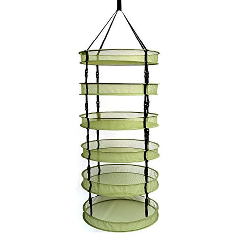 Collapsible Mesh Drying Rack Dry Herbs Plants 4 Layer Dry Hanging Net Clip-on