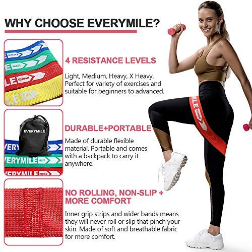 Booty Strong Elastic Strength Trainer Legs Resistance Loop Bands Set for Hip