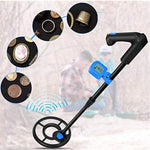 DR.ÖTEK Easy to Operate LCD Metal Detector for Kids and Beginners, Lightweight, Waterproof Coil, Detects Gold, Sliver, Coins, Artifacts, for Junior-Includes Shovel and Battery-Blue/Black