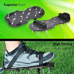 Lawn Aerator Shoes, Heavy Duty Spike Aerating Sandals Soil Adjustable Straps - Sturdy Universal Size, Men Women NO Assembly Needed Use Straight Out Box (Black)