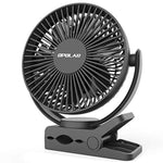 OPOLAR Clip Fan, 6700mAh Rechargeable Battery for Hurricane, USB or Battery Powered, Clip & Desk Electric Fan 2 in 1, Portable Small Handheld Fans, Quite for Office, Golf Cart, Car, Baby Stroller