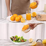 Citrus Juicer,Lemon Squeezer,Citrus Orange Squeezer Manual Hand Juicer Lime Press Anti-Slip Lid Rotation Reamer with Strainer and Container by Kasmoire