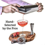 Boston Cocktail Shaker Set: Professional Weighted Bar Shaker with Hawthorne Strainer and Japanese Jigger - Perfect Home Bartender Kit For an Awesome Drink Mixing Experience - Exclusive Recipes Bonus