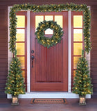 Holiday Time Christmas Decor Pre-Lit 5-Piece Entryway Set, Clear Lights