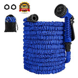 "Eocolz Garden Hose Expandable Water Hose 75ft Lightweight 3/4"" Solid Fittings, Triple Layer Latex Core, Extra Strength Fabric Flexible Expanding Hose for Lawn Car Pet Garden Watering(Blue)"
