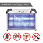 Aspectek UPGRADED 20W Electronic Bug Zapper, Insect Killer - Mosquito, Fly, Moth, Wasp, Beetle & other pests Killer for Indoor Residential & Commercial(2 Pack Replacement Bulbs Included)