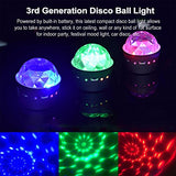 [2-Pack] Wireless Disco Ball Lights Battery Operated Sound Activated LED Party Strobe Light Mini Portable RGB DJ Stage Light with USB by Opard