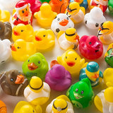 Fun Central AY771 50ct 2 Inch Rubber Ducks Toy Bulk, Miniature Rubber Ducks, Rubber Ducky, Rubber Duck Baby Shower, Rubber Duck Pool, Rubber Duck Party Supplies and Favors